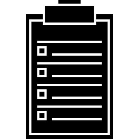 Icona di elenco di vettore