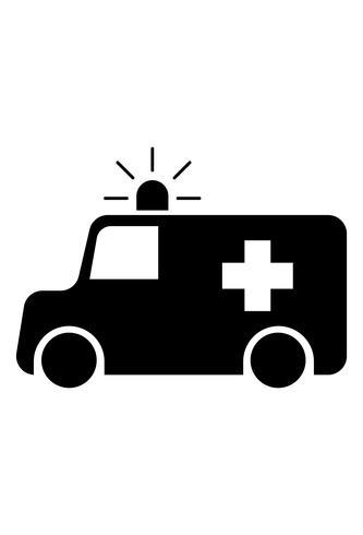 ambulance pictogram vector