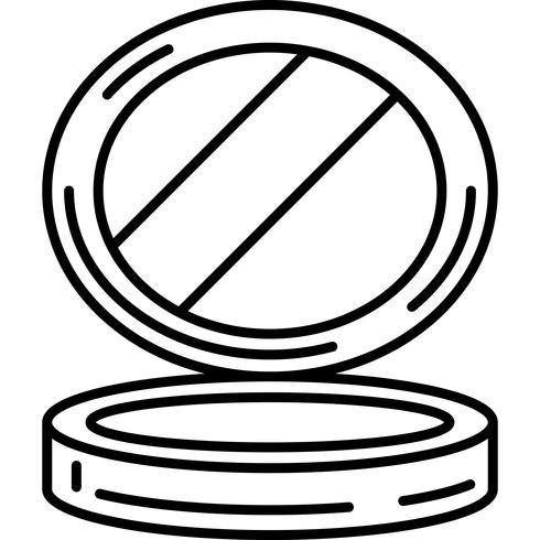 Espejo pequeño icono vectorial vector