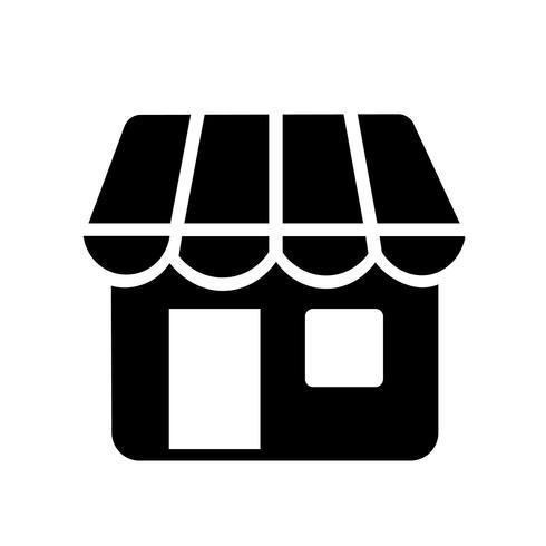 Boutique en ligne icône vecteur