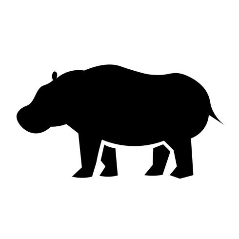 Vettore dell'icona dell'ippopotamo