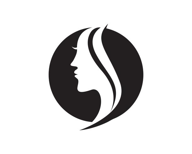 capelli donna e viso logo e simboli