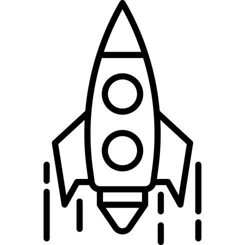 Vetor de ícone de foguete