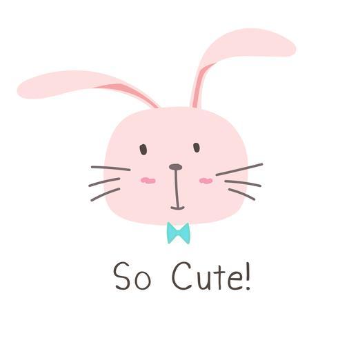 Schattig Bunny vectorillustratie.