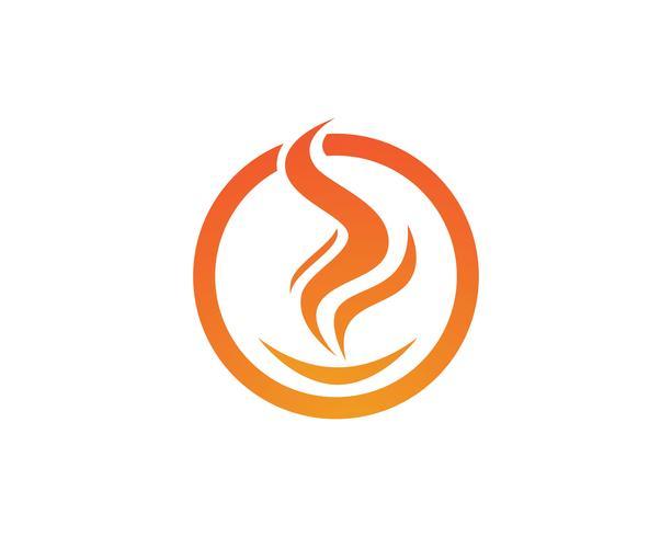 Flamme de feu Logo Template vector icon Logo de pétrole, de gaz et d'énergie