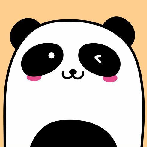 Fondo lindo de la ilustración del vector de la panda.