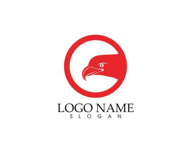 águila pájaro signo abstracto plantilla iconos iconos aplicación vector