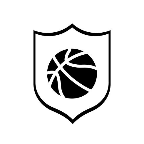 Basketball Club Icon Vector