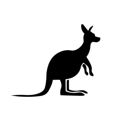 Kangaroo pictogram vector