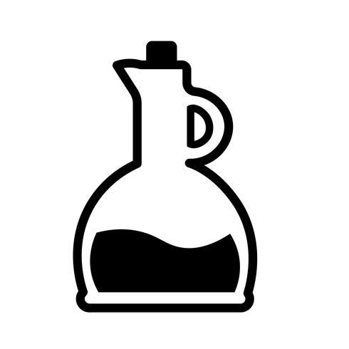 Oil Bottle Icon Vector