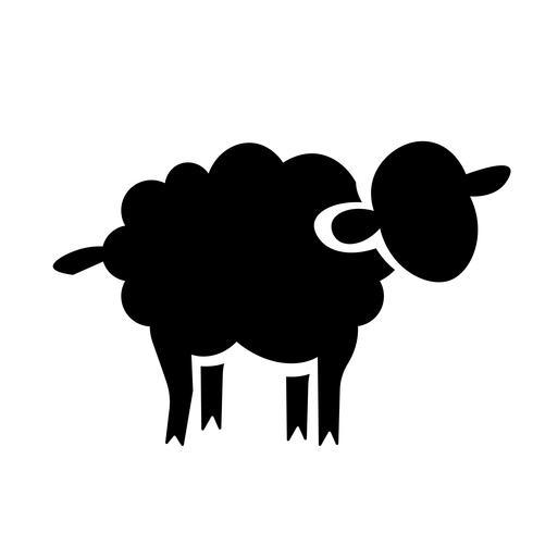 Icono de ovejas vector