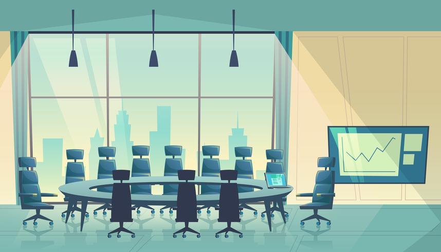 Sala per conferenze di vettore per affari, sala del cartone animato