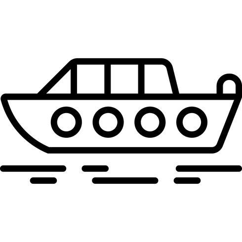 Vettore dell'icona della barca a motore