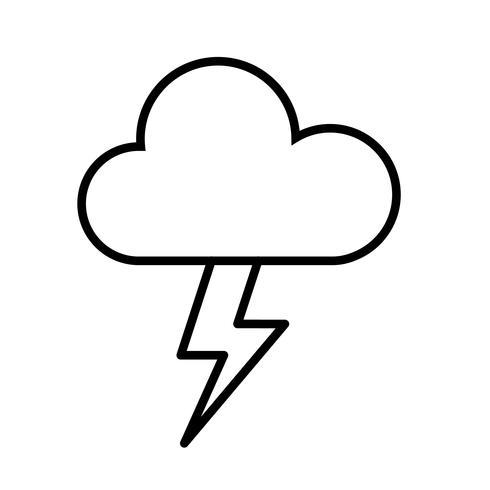 Nuage et Thunderbolt Icône Vecteur