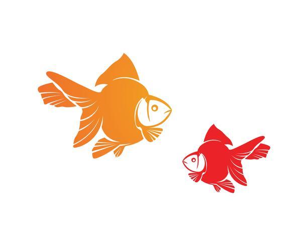 Modello di logo di pesce. Simbolo di vettore creativo del club di pesca o online