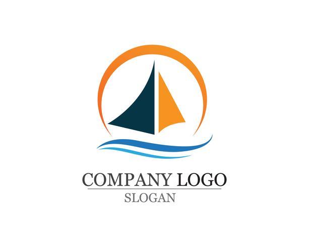 Logotipo linear simples da silhueta do navio do forro do cruzeiro do oceano