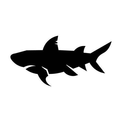 Vettore dell'icona dello squalo