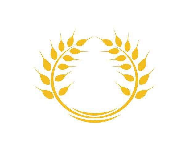 Landwirtschaftsweizen Logo Template-Vektorikonendesign