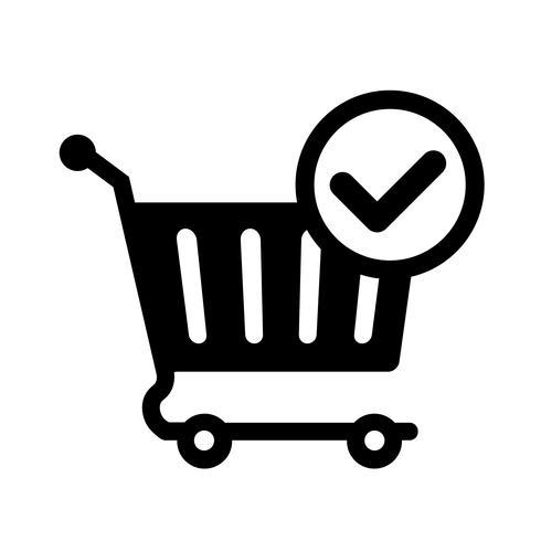 online kundvagn checkout ikon vektor