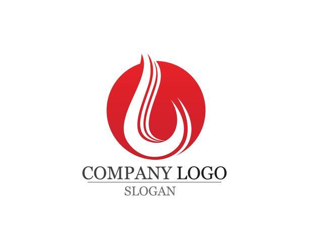 Feuer Flamme Logo Template-Vektor-Symbol Öl, Gas und Energie