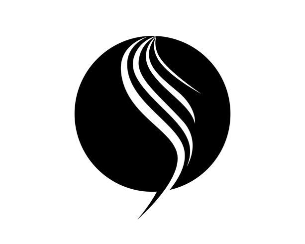 pelo mujer y cara logo y simbolos vector
