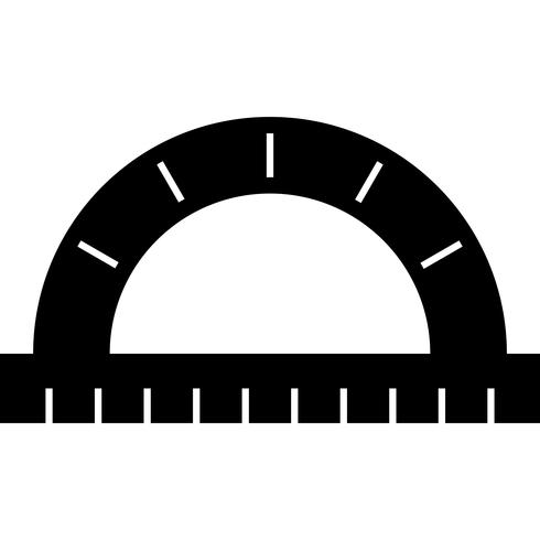 Protractor Icon Vector