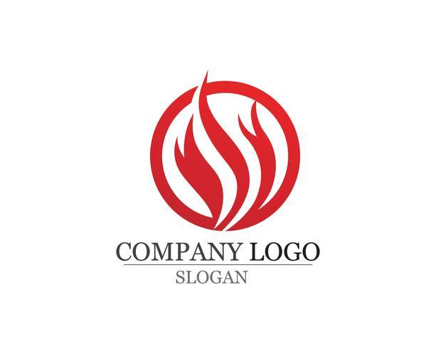 Icône de vecteur flamme feu Logo Template Pétrole et énergie