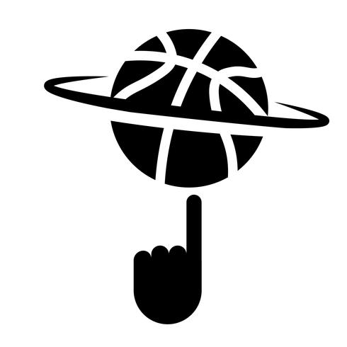 Spinning Basketball With Finger Icon Vector