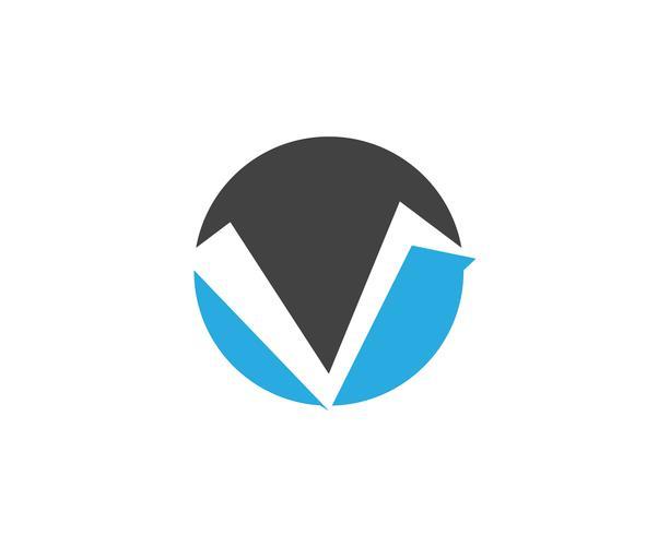 V logotyp affärslogotyp och symbolmall