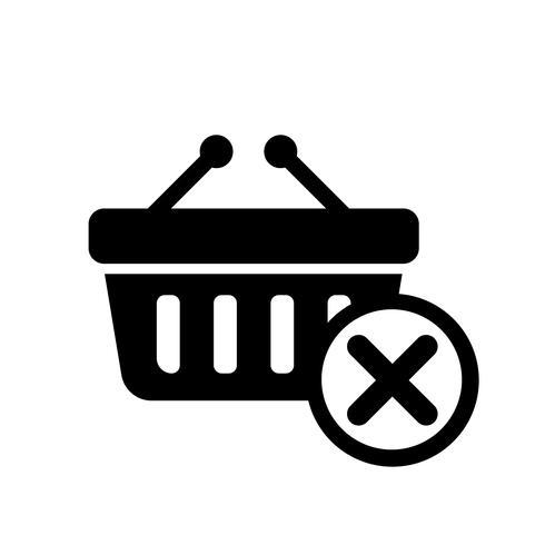 Eliminar del icono de la cesta Vector