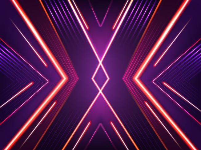 Vector abstracte neonachtergrond. Helder stralend patroon
