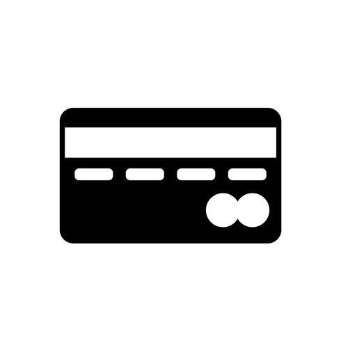 Vecteur d'icône de carte de crédit