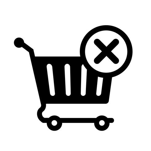 Remove From Cart Icon Vector