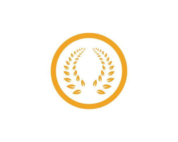 Agricultura trigo Logo plantilla vector icono diseño de la aplicación