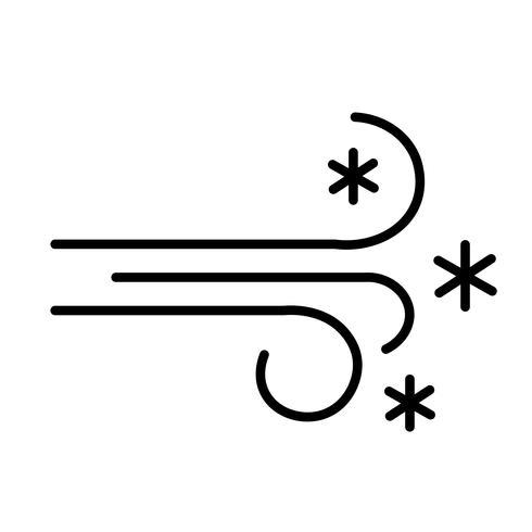 vector icono de ventisca
