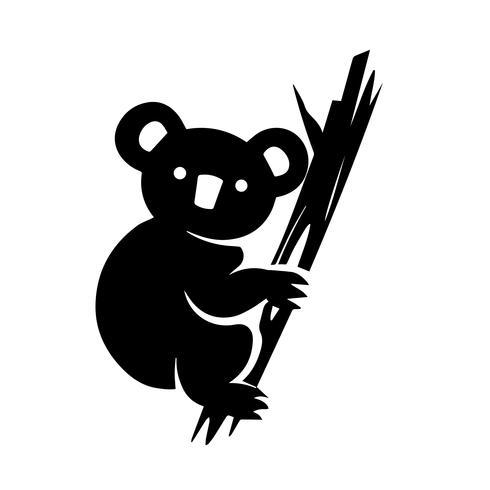 koala pictogram vector