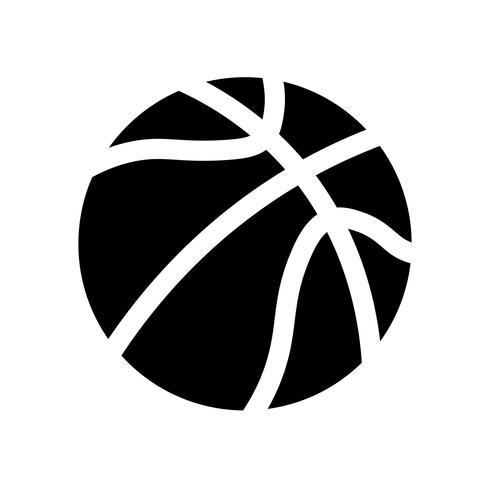 Vettore dell'icona della palla di pallacanestro