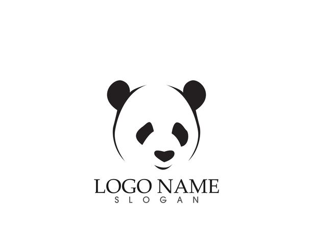 Panda logo and symbols template icons app vector