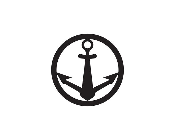 anchor logo and symbol template vector icons