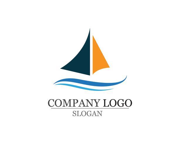 Einfaches lineares Logo der Ozeankreuzfahrtschiff-Silhouette