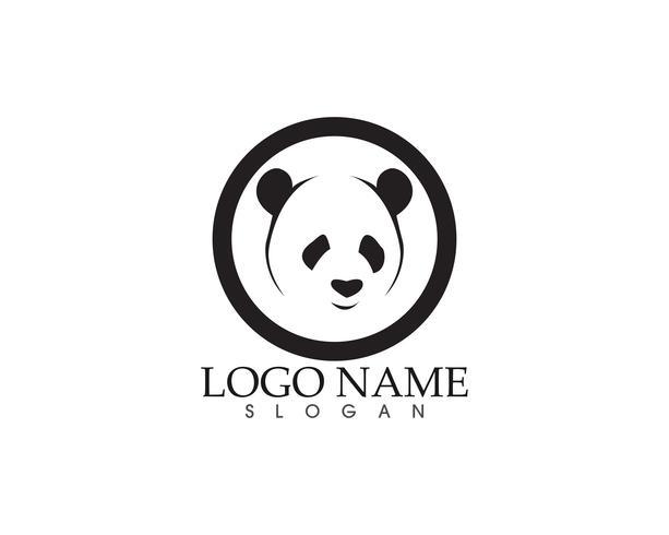Panda logotyp och symboler mall ikoner app vektor