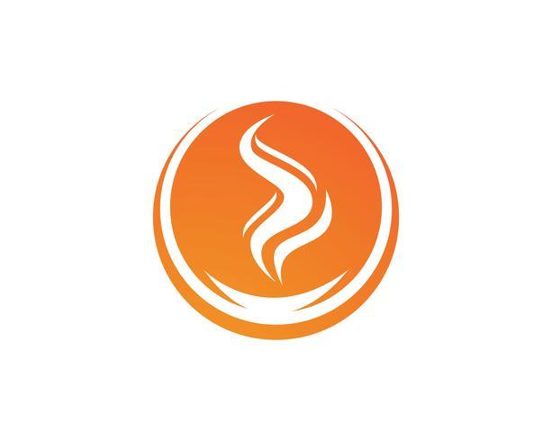 Vuur vlam Logo sjabloon vector pictogram Olie, gas en energie logo