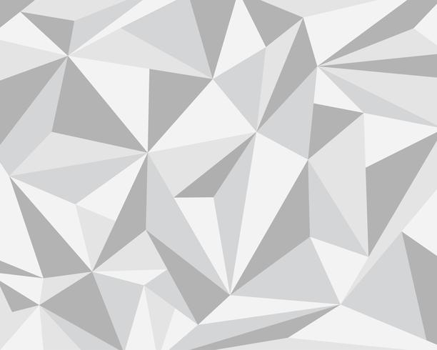 Abstract white gray polygonal geometric background - Vector illustration.