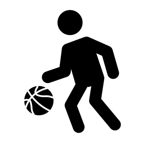 Basketball Dribble Icon Vector