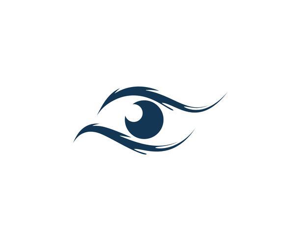 Ícones de vetor de modelo de logotipo e símbolos de cuidados com os olhos