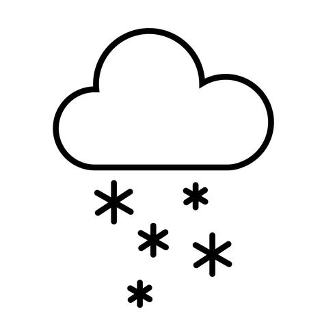 Cloud and Snow Icon Vector