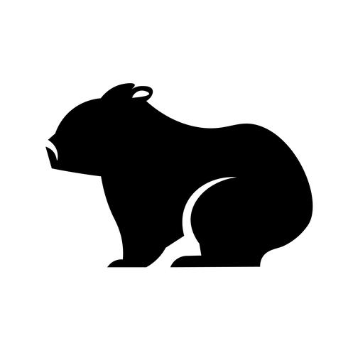 wombat pictogram vector