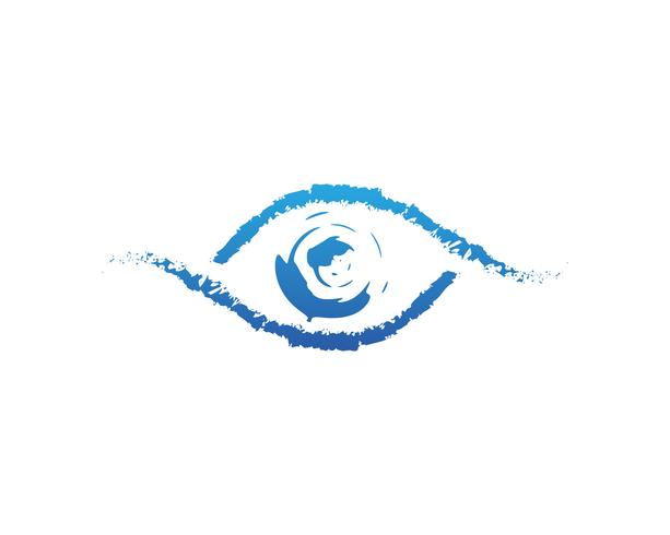 Logo de soins oculaires et icônes de modèle de vecteur de symboles