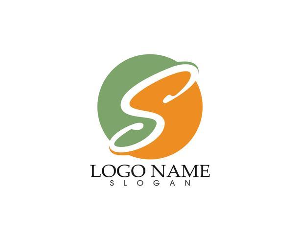 S logo symbolen sjabloon vector iconen