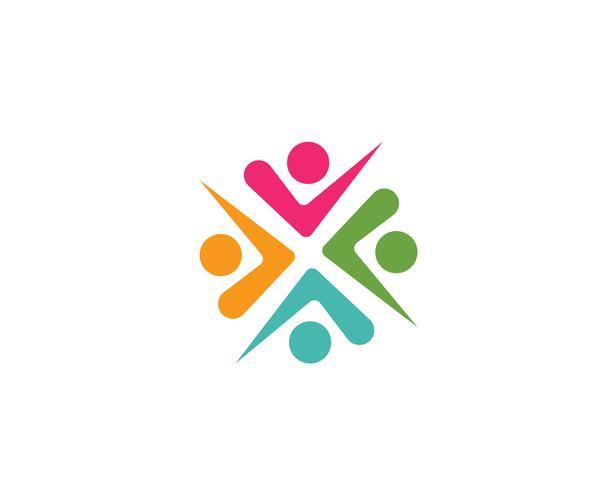 Community, nätverk och social ikon design mall